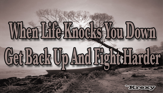 Motivational Quotes On Life Simple Motivational Quotes  When Life Knocks You Down Get Back Up