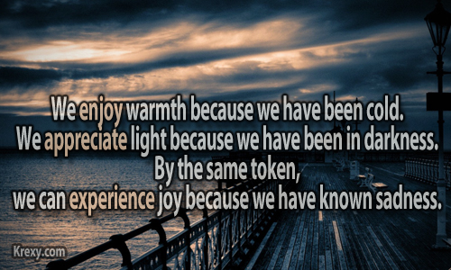 Sad Quotes We Enjoy Warmth Because We Have Been Cold Krexy