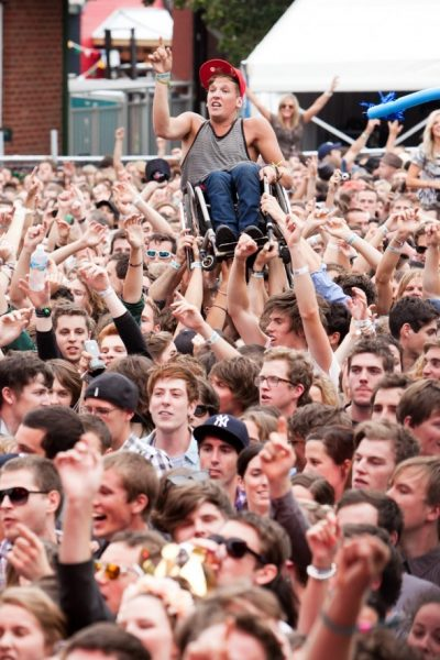 Disabled Kid at Gig